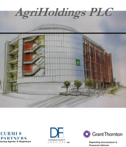 The AgriHolding p.l.c.'s full company admission document frontpage