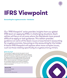 "The ""IFRS Viewpoint"" brochure frontpage"