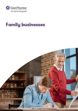 "The ""Family businesses"" brochure frontpage"