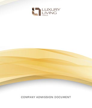 The Luxury Living Finance company admission document frontpage