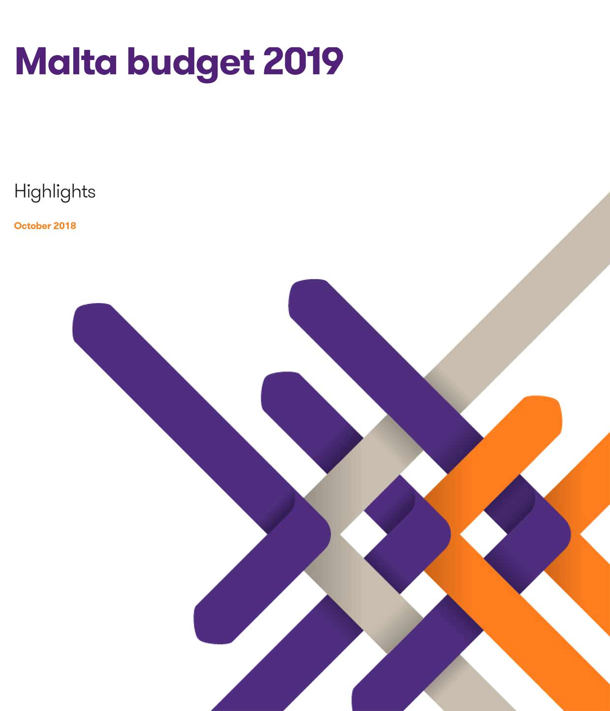 The Malta budget 2019 frontpage brochure