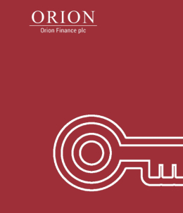 The Orion Finance company admission document frontpage