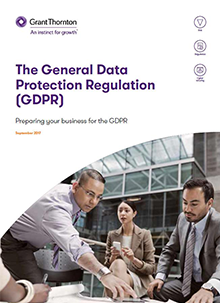 The GDPR brochure frontpage