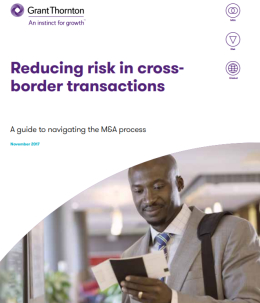 "The ""Reducing risk in cross-border transactions"" brochure frontpage"