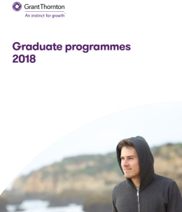 "The ""Graduate programmes 2018"" brochure frontpage"