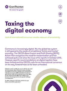 "The ""Taxing the digital economy"" brochure frontpage"