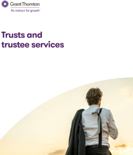 "The ""Trusts and trustee services"" brochure frontpage"