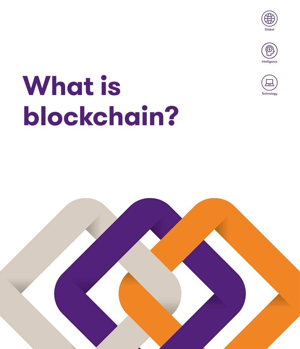 "The ""What is Blockchain"" brochure frontpage"