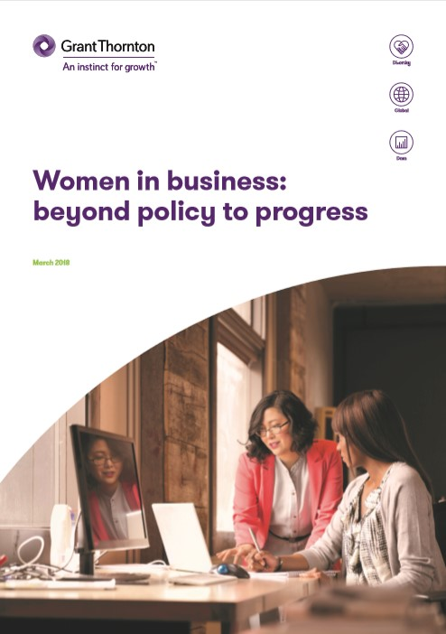 "The ""Women in business"" brochure frontpage"