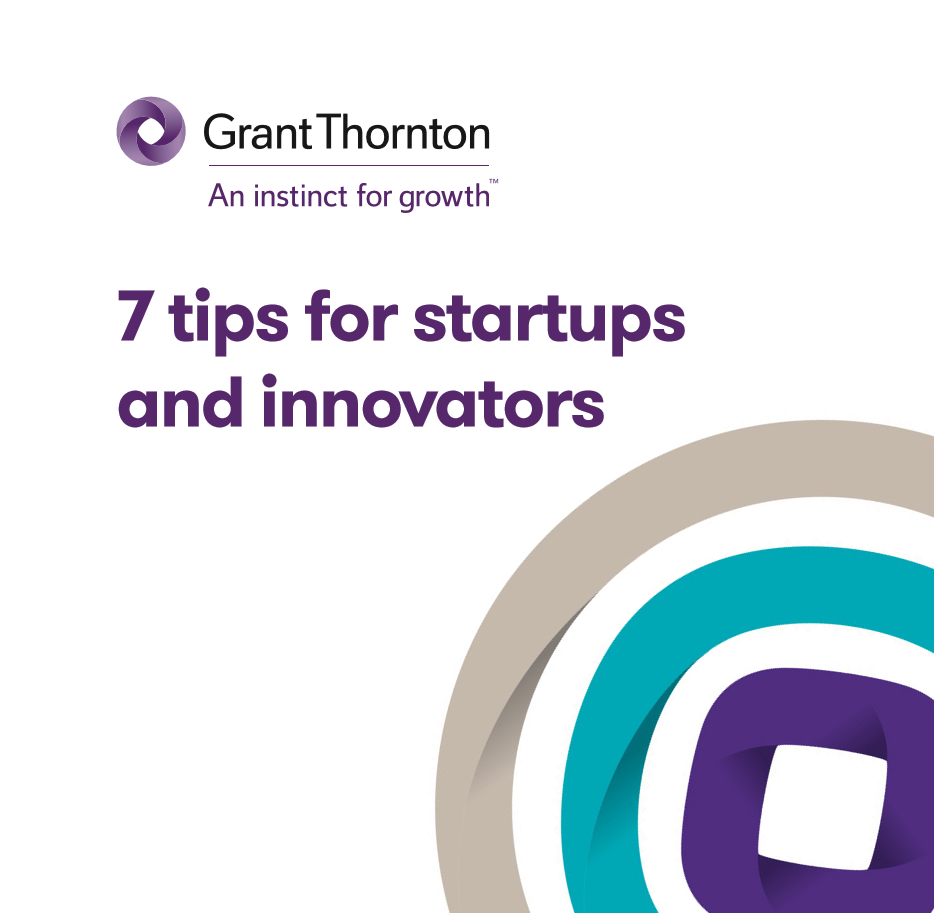 "The ""7 tips for start-ups and innovators"" brochure frontpage"