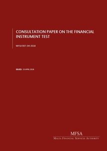 The consultation paper on the financial instrument test brochure frontpage